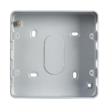 MK GRID PLUS K8893ALM 6 & 8 Gang  Metalclad Plus Grid Mounting Box 40mm