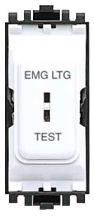 MK GRID PLUS K4898EL 2 Way SP Secret Key Switch Marked EMG LTG TEST 20A