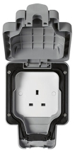 MK Masterseal K56480GRY 1 Gang Unswitched Socket IP56 13A In Grey