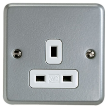 MK Metalclad K848ALM 1 Gang Unswitched Socket 13A