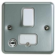 MK Metalclad K932ALM Switched Connection Unit c/w Flex Outlet 13A