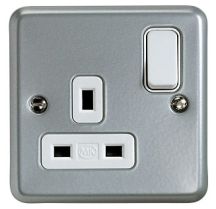 MK Metalclad K2977ALM 1 Gang DP Switchsocket 13A