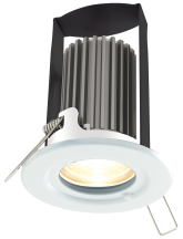 BG Luceco 7W LED Fire Rated Downlight Natural White with White Bezel