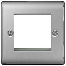 BG NBSEMS2 Frontplate 2 Module Square