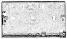 2 Gang 16mm Flush Steel Box with Adjustable Lugs