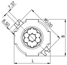 Wiska Combi 30410110631 Junction Box 82x82x57mm White