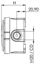 Wiska Combi 304 10110637 Junction Box 82x82x57mm White + WAGO Terminals