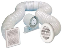 "Manrose Primero In-Line Shower Fan Kit c/w Timer 100mm/4"" 230V"