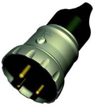 Lewden Plug 5A 2P+E IP66 Round Metal Plug