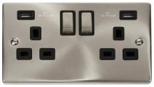 Click VPSC580BK Socket 2G Swd & USB 13A