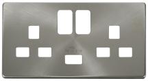 Click SCP470BS Frontplate 2G Swd Skt BSS
