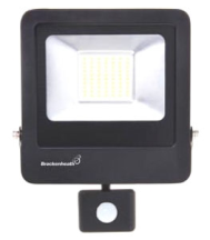 Brackenheath N6341 LED Floodlight & PIR 50W Black