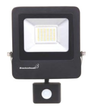 Brackenheath N6321 LED Floodlight & PIR 20W Black