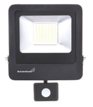 Brackenheath N6331 LED Floodlight & PIR 30W Black