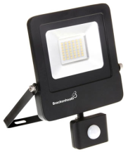 Brackenheath N6311 LED Floodlight & PIR 10W Black