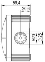 Wiska 10105602 Jcn/Box Combi 407/5/S Blk