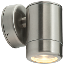 Saxby Lighting Odyssey 1 Light IP65 GU10 Wall Light - Stainless Steel