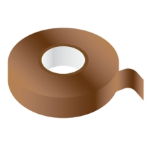 BROWN PVC Insulating Tape 19mm x 33m