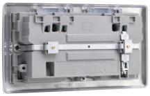BG Nexus Wi-Fi Socket Range Extender Plus USB Port - Brushed Steel