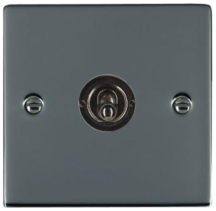 Hamilton Sheer Black Nickel 1 Gang 20AX Intermediate Toggle Switch