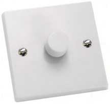 Hamilton 1 Gang 2 Way Push On/Off Switch (no dimming function)
