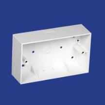 Marshall Tufflex 2 Gang Mini Trunking Mounting Box C/W Round Corners 44mm