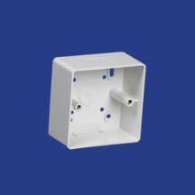 Marshall Tufflex 1 Gang Mini Trunking Mounting Box c/w Radius Corners 44mm