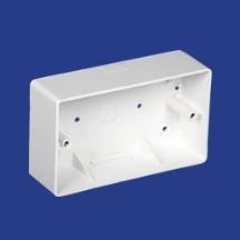 Marshall Tufflex 2 Gang Mini Trunking Mounting Box C/W Square Corners 44mm