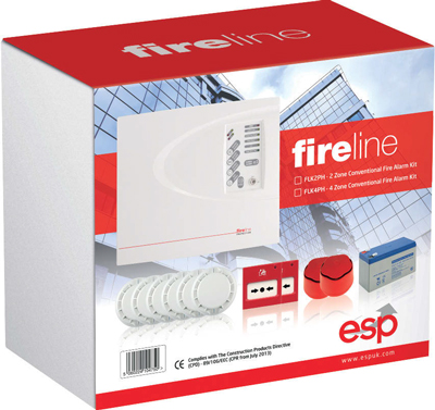 ESP FLK2P 2 Zone Fire Alarm Kit