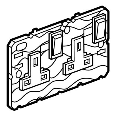 Legrand Electric Ltd 572149 Socket Switched Dp 2 Gang Arteor 13a