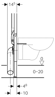 Geberit Washroom 111 799 00 1 Frame Duofix Wall Hung Wc With