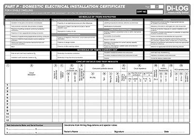 Part P Certificate >> Dilog Test Equipment Dlc106 Certificate Electrical