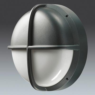Thorn External Wall Lights : Thorn Lighting Ltd EYL75VOA : Bulkhead, Large Round Visor HF IP65, c/w Opl Diff & 4000K LED ...