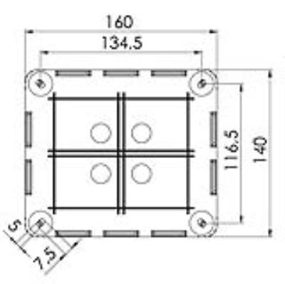 wiska uk ltd 10101462   junction box  combi 1210  5 c  w 5