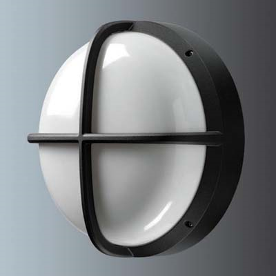 Thorn External Wall Lights : Thorn Lighting EYS26COB : Bulkhead, Small Round Cross IP65 HF Opl Diff, c/w TC-TEL Eyekon 26W Black
