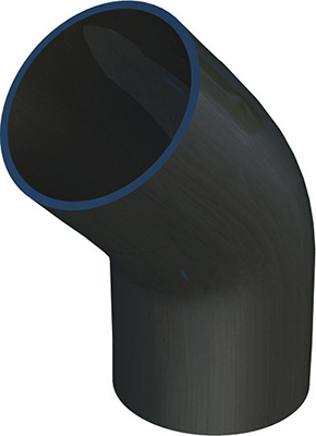 Polypipe terrain bend 45deg soil fuze 90mm for 90mm soil pipe fittings