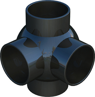 Polypipe terrain branchball 90deg double for 90mm soil pipe fittings